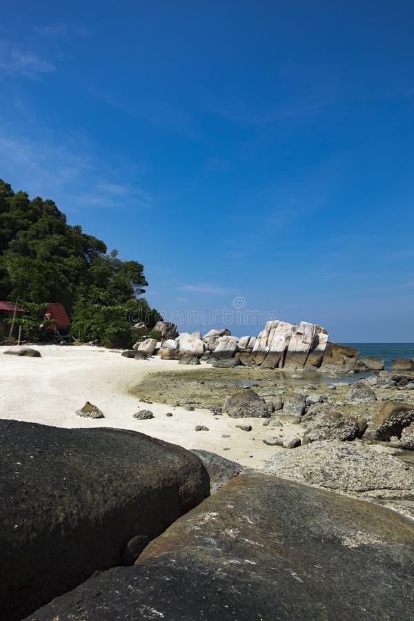 Idylliczna tropikalna wyspy sceneria z kryształem - jasny turkus zdjęcia royalty free