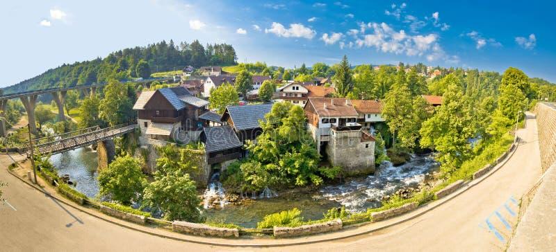 Idylliczna wioska Rastoke na Korana rzece zdjęcia royalty free