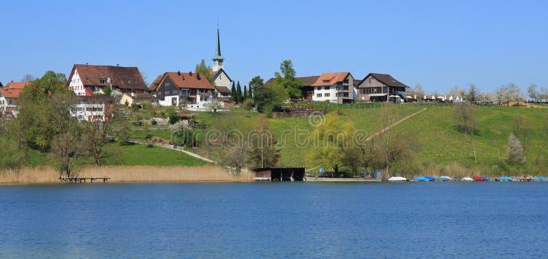 Idylliczna wioska Seegraben fotografia stock