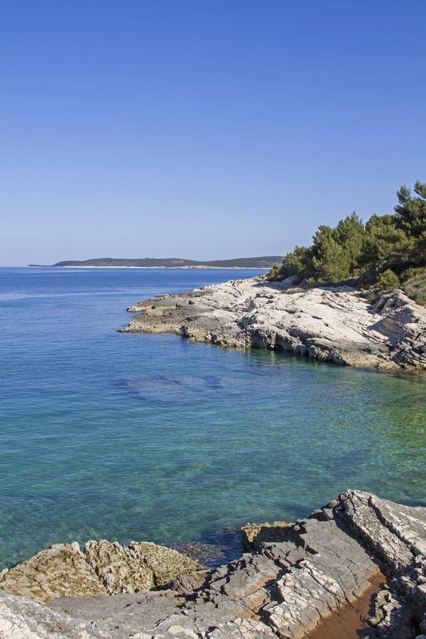 Idylliczny Kamenjak półwysep w Istria fotografia royalty free