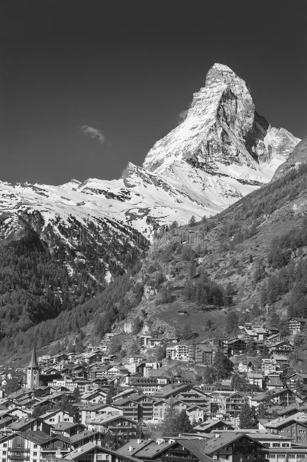 Idylliczny krajobraz Halny Matterhorn obrazy royalty free