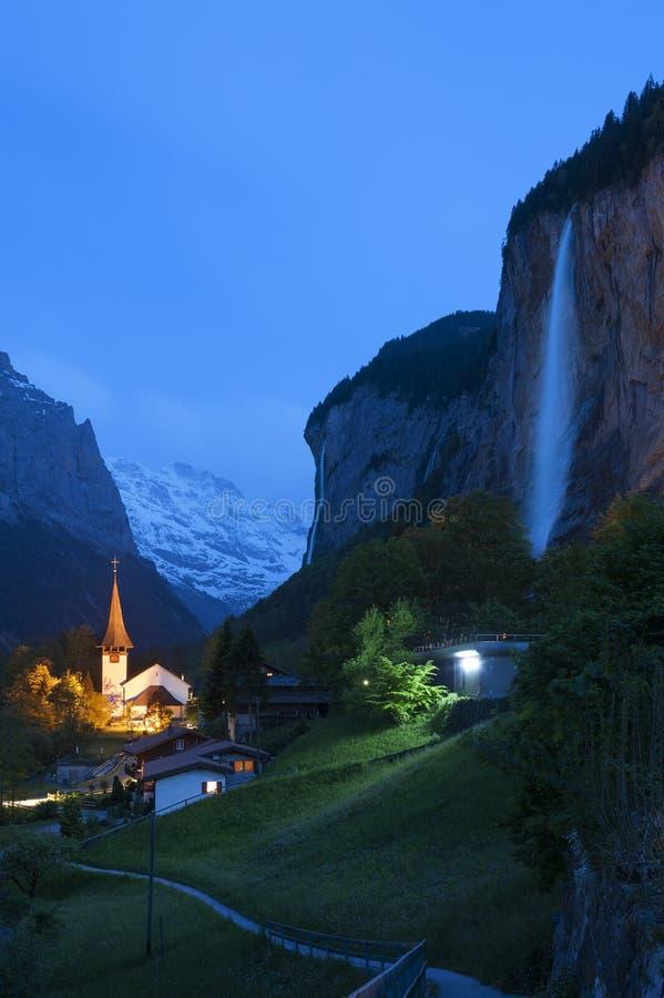 Idylliczny krajobraz w Szwajcaria zdjęcie stock