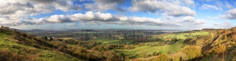 Idylliczny wiejski krajobraz, Cotswolds UK obrazy royalty free