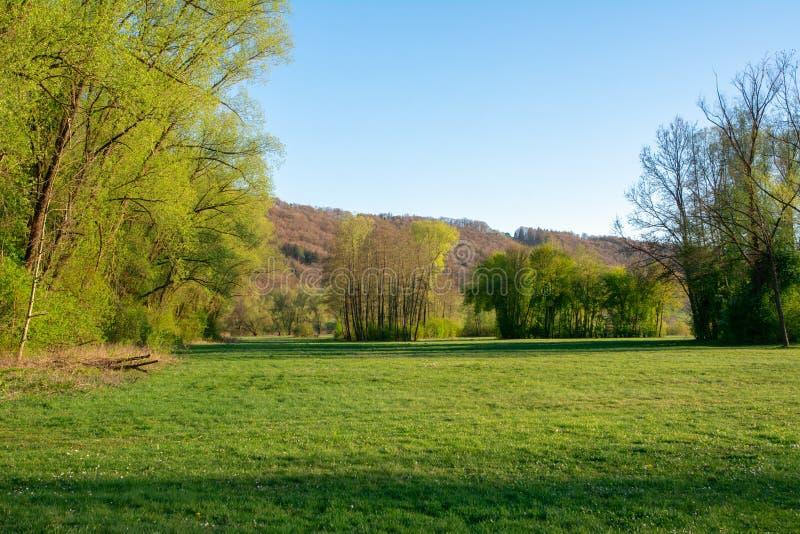 Idyllisch park in de Altmuehltal-vallei royalty-vrije stock afbeeldingen