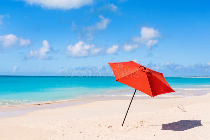 Idyllisch strand in de Caraïben stock foto