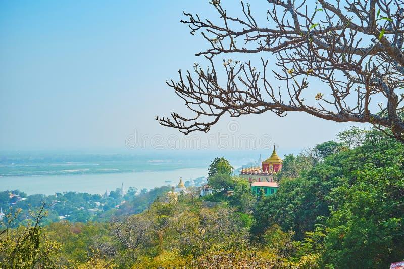 Idyllische aard van Sagaing royalty-vrije stock afbeelding