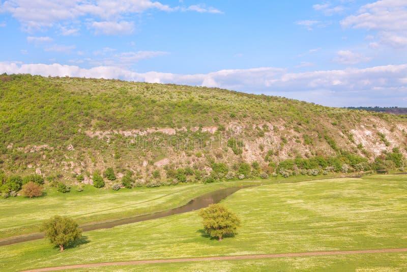Idyllische grüne Landschaft stockbild