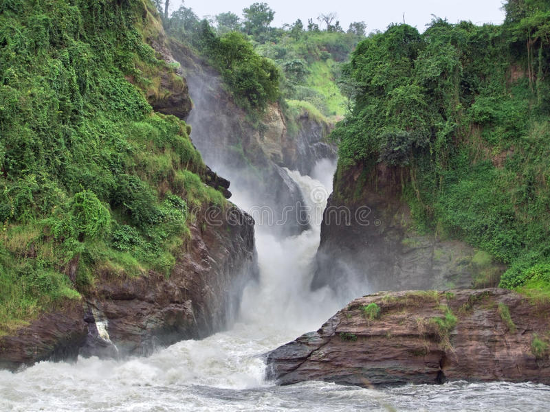 Idyllisches Murchison Falls stockfoto