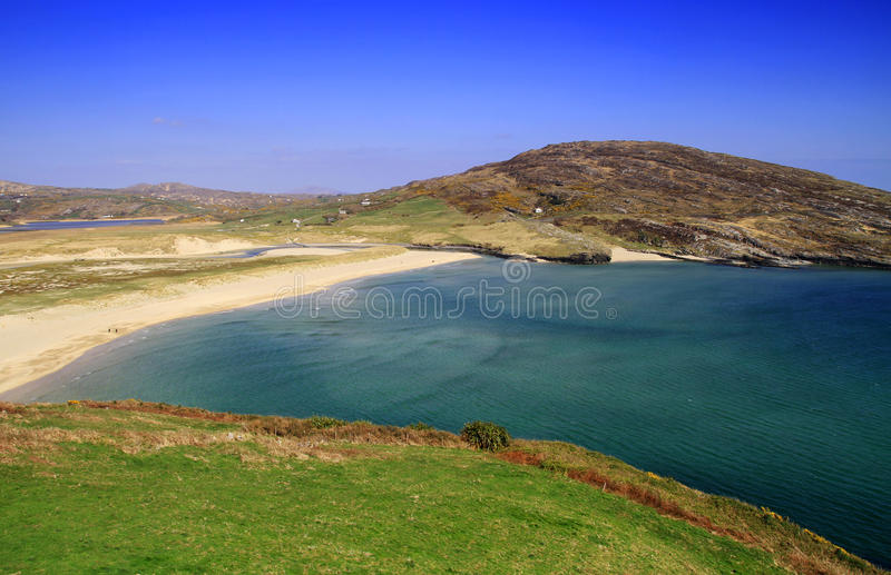idyllisk irländare för strand royaltyfri bild