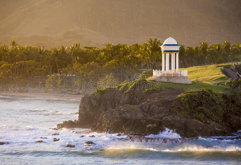Idyllisk karibisk plats i Dominikanska republiken royaltyfria bilder