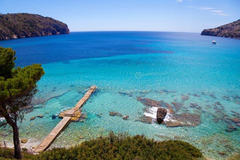 Idyllisk sikt i den Mallorca ön arkivbild
