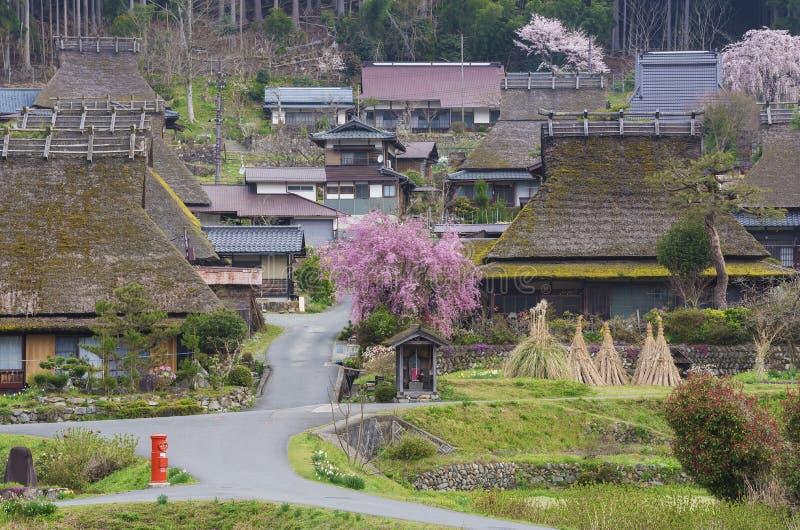 Idylliskt lantligt landskap av Japan fotografering för bildbyråer