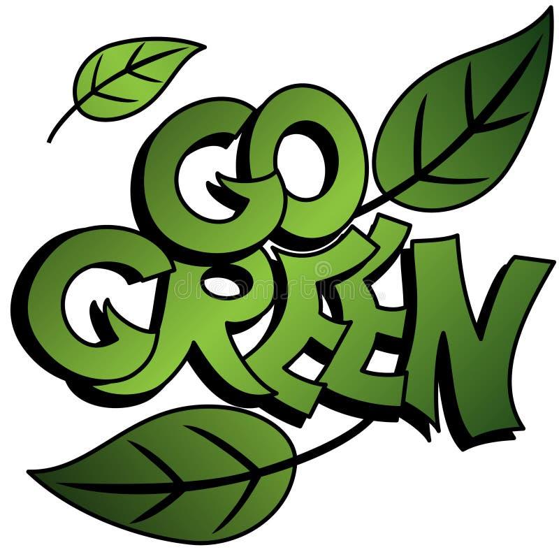 idzie graffiti zieleń ilustracja wektor