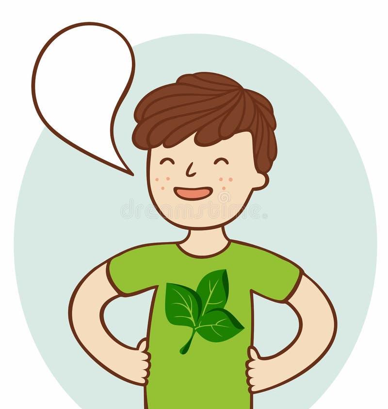 Idzie zieleń royalty ilustracja