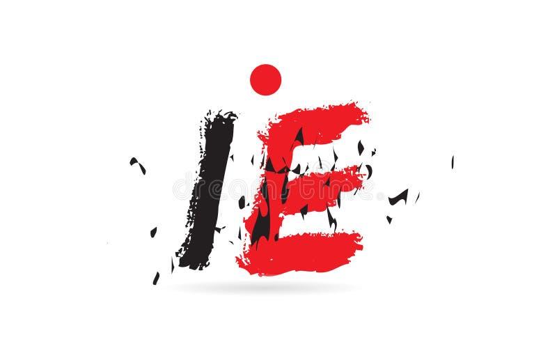 IE di combinazione di lettera di alfabeto CIOÈ con il logo di struttura di lerciume illustrazione vettoriale