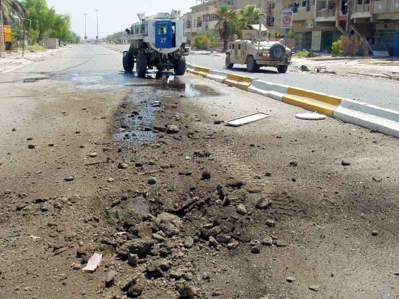 IED-Streik-nationale Polizei Bagdad der Irak 07 lizenzfreies stockfoto