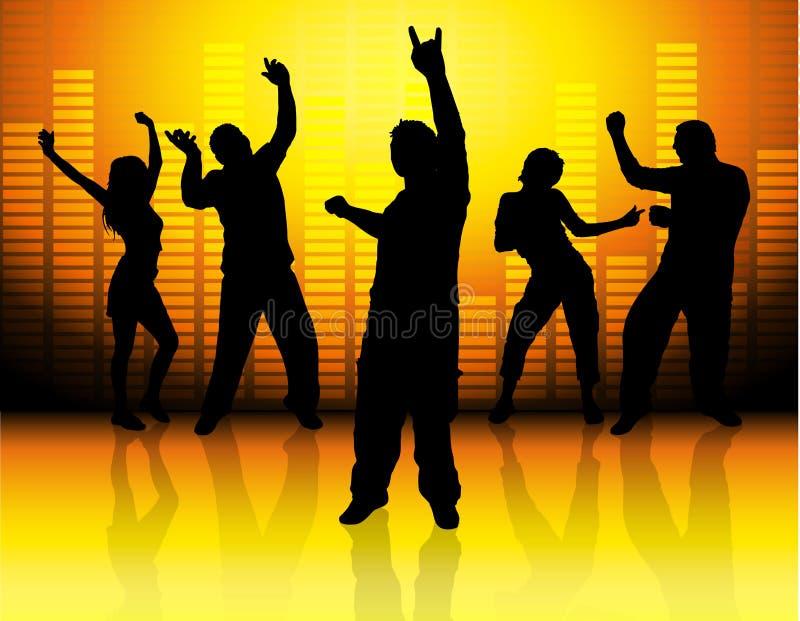 Iedereen danst! royalty-vrije illustratie