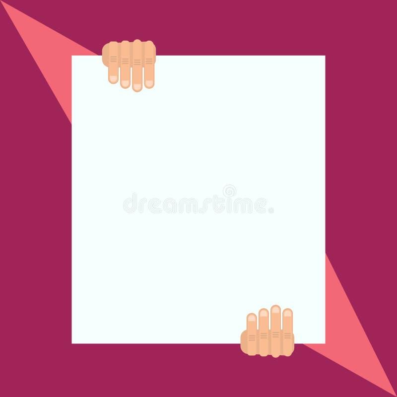 Iemand las historisch manuscript in de ceremonie van de onafhankelijkheidsdag De mens houdt leeg document de formele manier Grote vector illustratie