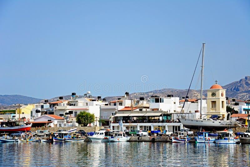 Ierapetra-Hafen, Kreta lizenzfreies stockbild