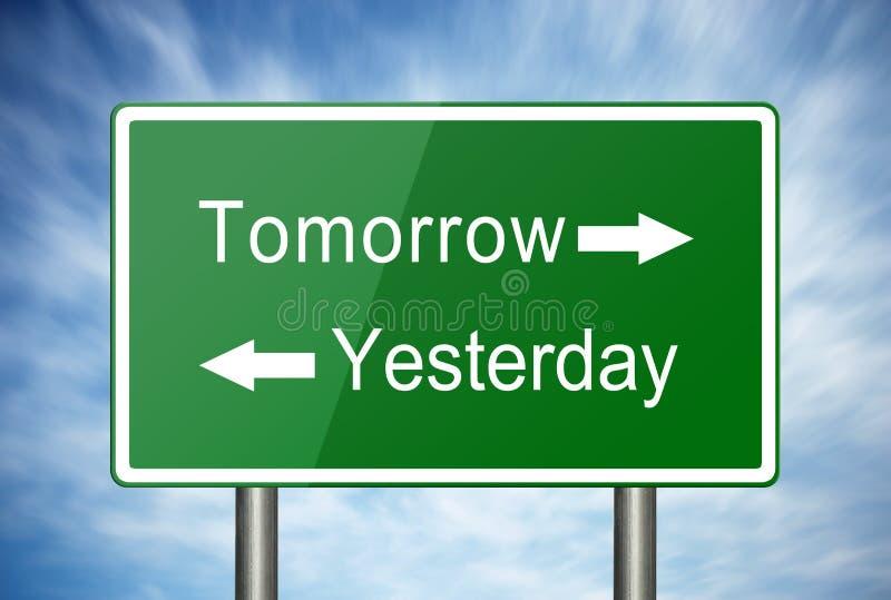 Ieri e domani immagini stock