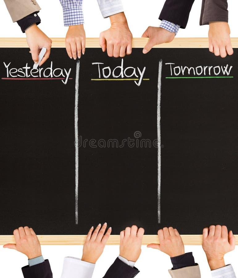 Ieri, oggi, domani fotografia stock libera da diritti