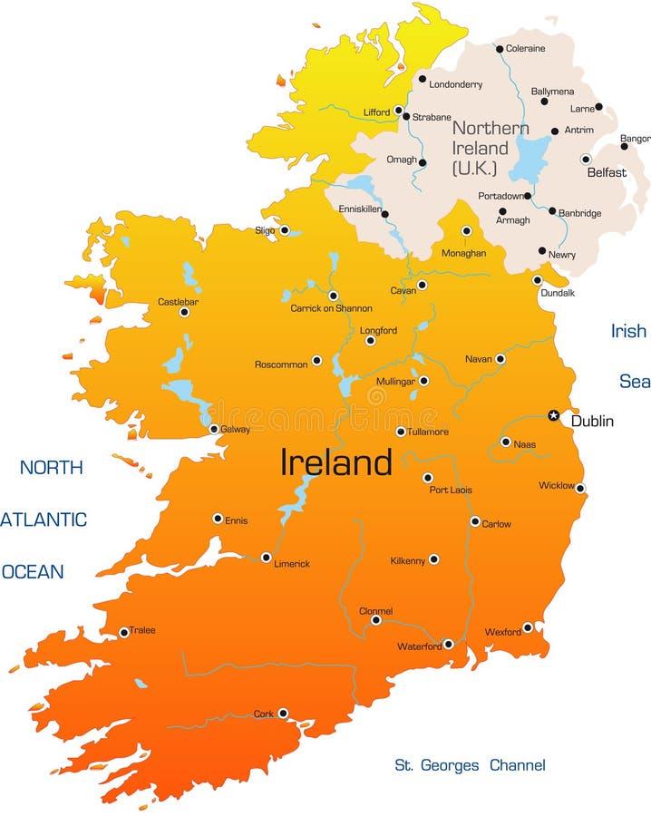 Ierland royalty-vrije illustratie