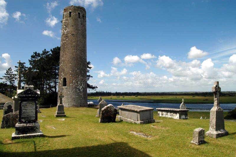 Ierland - Clonmacnoise royalty-vrije stock afbeelding