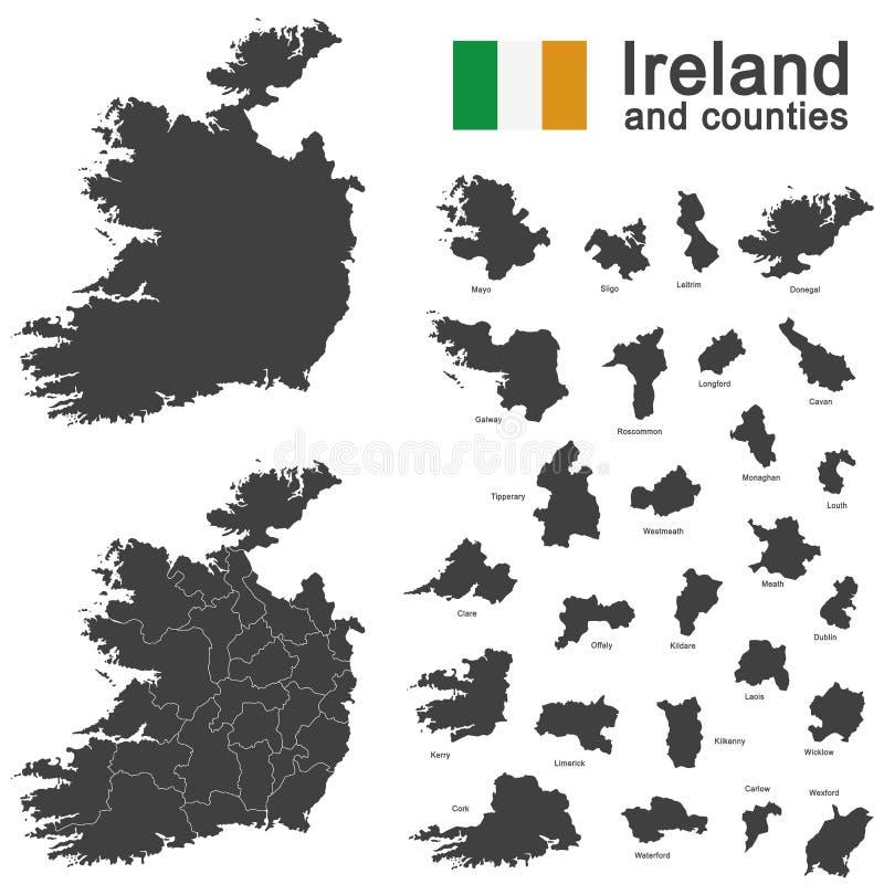 Ierland en provincies stock illustratie