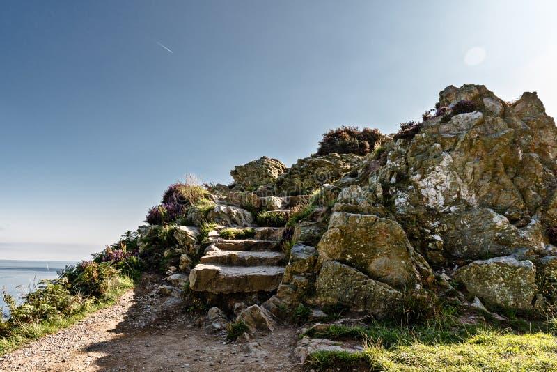 Ierland, het eiland smaragd Groene landschappen, grove kustlijnen, hoogkliffen, oude dorpen, kruidnagels en kastelen royalty-vrije stock foto