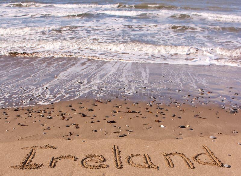 Ierland op strand stock afbeelding