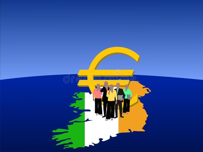 Iers Commercieel Team stock illustratie