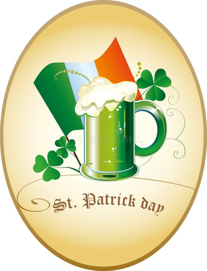 Iers groen bier stock illustratie