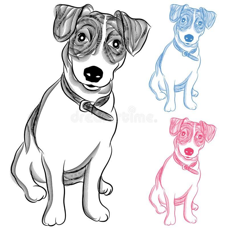 Iers Jack Russell Terrier Dog stock illustratie