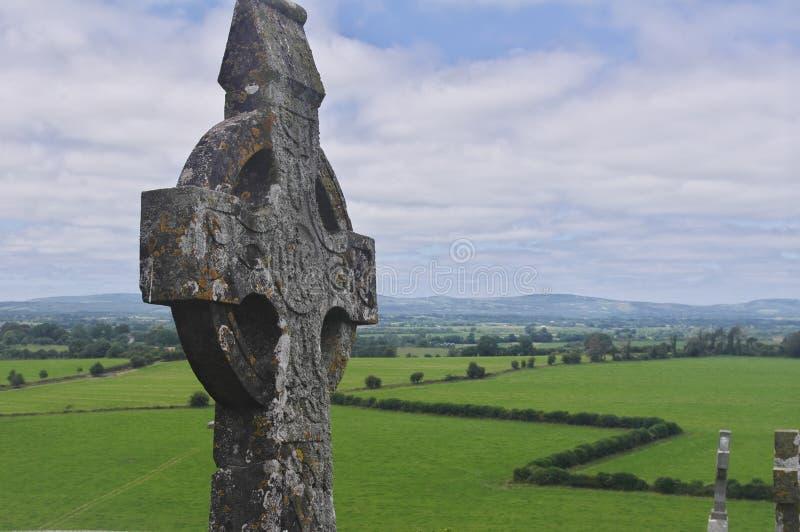 Iers Keltisch kruis stock foto