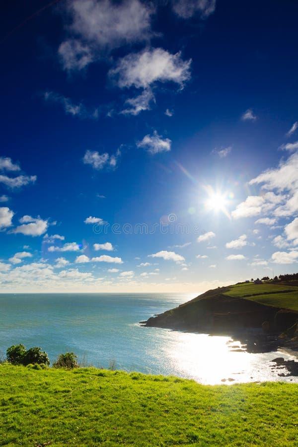 Iers landschap. Cork van de Provincie van de kustlijn Atlantische kust, Ierland royalty-vrije stock foto