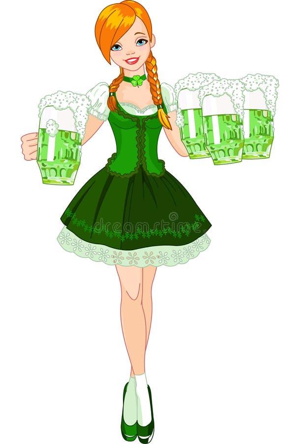 Iers meisje royalty-vrije illustratie
