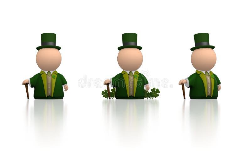 Iers pictogram voor St Patricks dag - witte versie vector illustratie