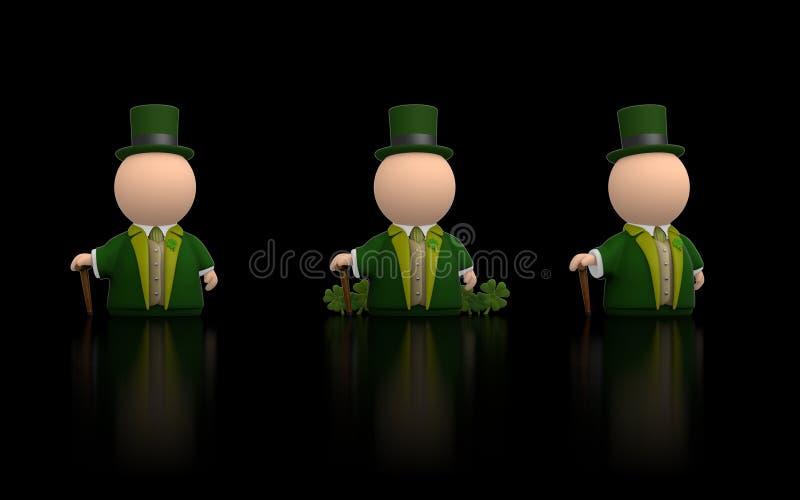 Iers pictogram voor St Patricks dag - zwarte versie stock illustratie