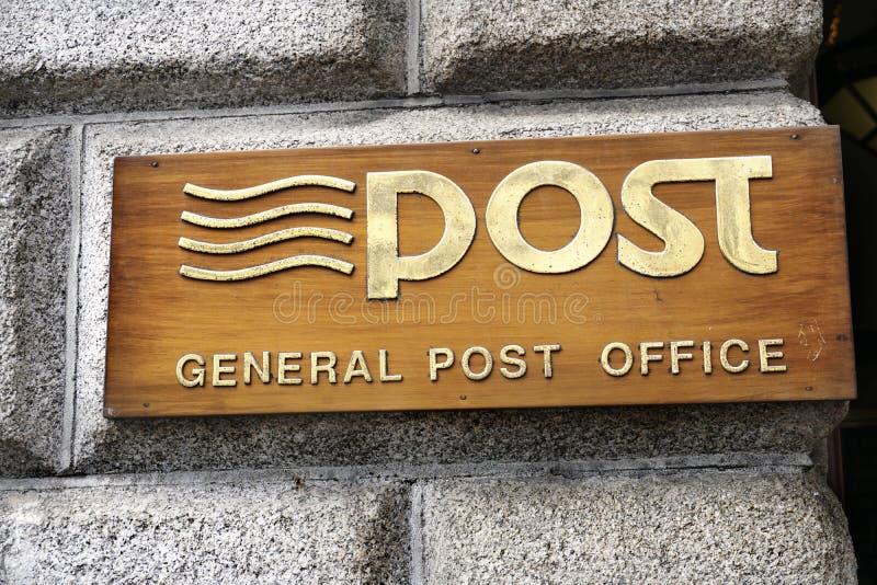 Iers uithangbord van Postkantoor royalty-vrije stock foto
