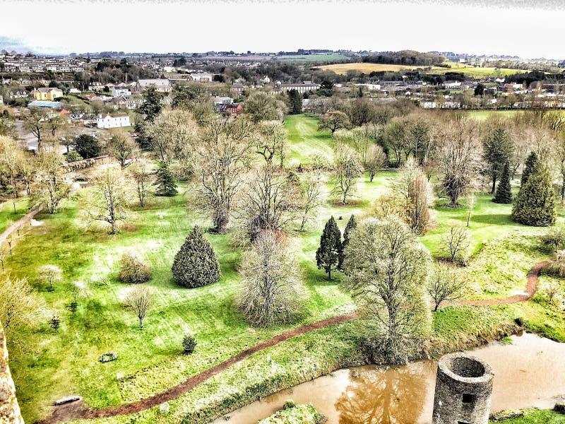 Ierse kasteelmening stock afbeeldingen