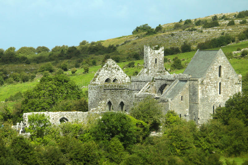 Ierse Plattelandsruïnes royalty-vrije stock afbeelding
