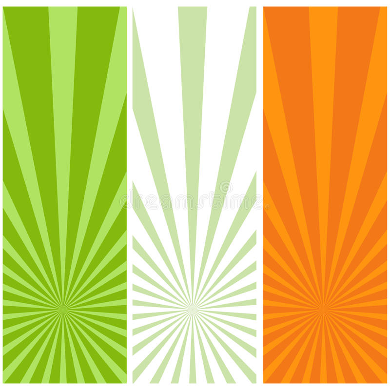 Ierse vlag vector illustratie