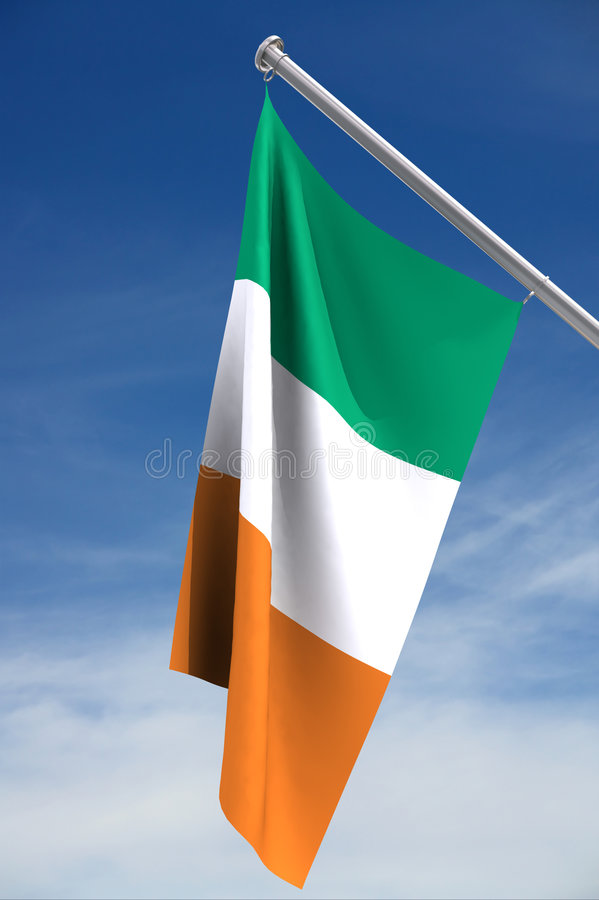 Ierse Vlag royalty-vrije illustratie