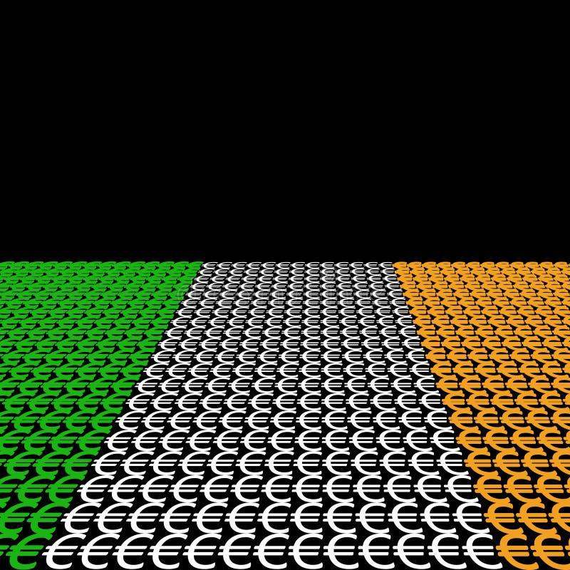 Ierse vlageuro vector illustratie