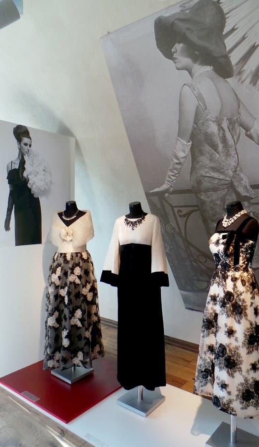 IES der Mode 60 des 20. Jahrhunderts Ausstellung von Alexander Vasiliev lizenzfreies stockfoto