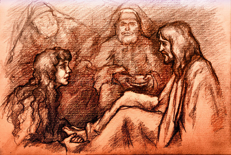 Download Iesus Christus En Mary Magdalene Stock Illustratie - Illustratie bestaande uit pasen, eeuwig: 29502792