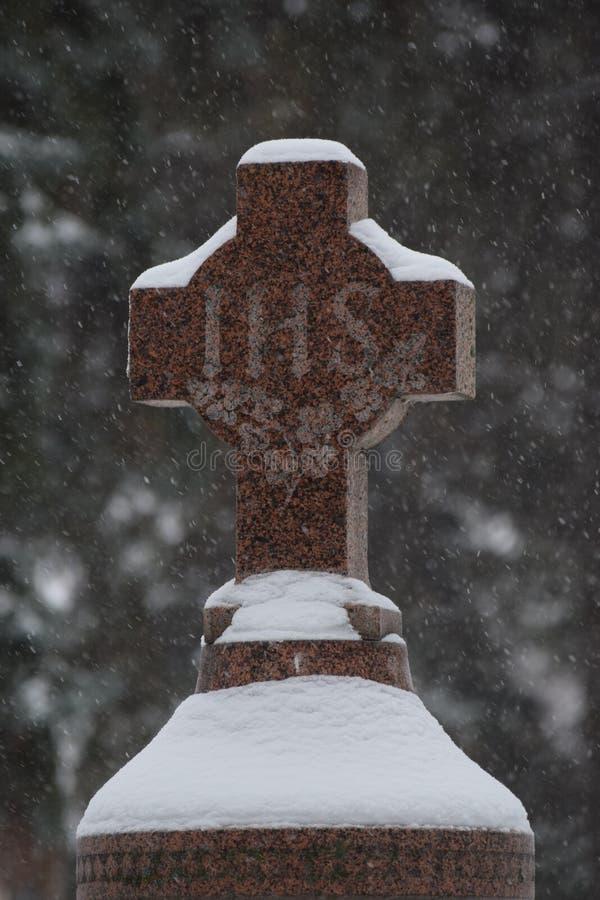 Iesus Hominum萨尔瓦托,symbolon墓石 库存图片