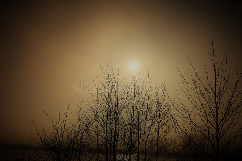 Iets tussen de zon en de maan stock foto's