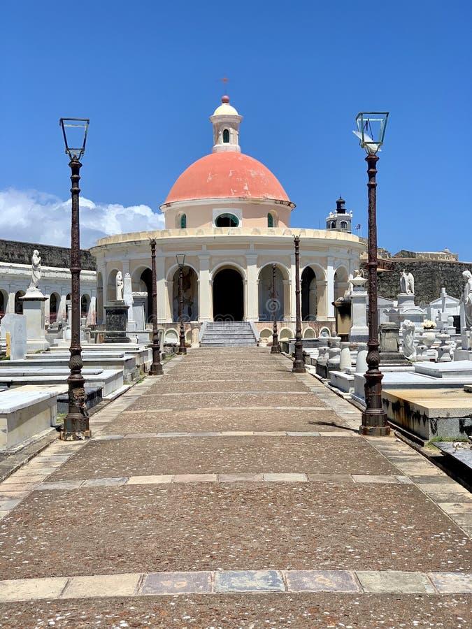Old San Juan Puerto Rico Cemetery. Iew of Santa Maria Magdalena de Pazzis Cemetery in Old San Juan Puerto Rico royalty free stock photography