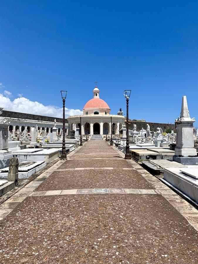 Old San Juan Puerto Rico Cemetery. Iew of Santa Maria Magdalena de Pazzis Cemetery in Old San Juan Puerto Rico royalty free stock photos